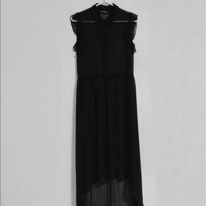 Zara chiffon black dress