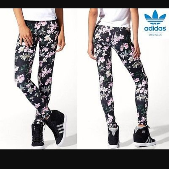 b5309e0ffc557 Adidas Originals Orchid flower print leggings. M_59c5c06deaf03089fa050ae7