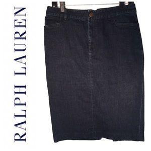 Ralph Lauren 90s Vintage Denim Skirt