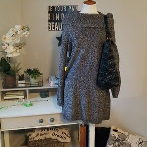 Style and company XL sweater dress charcoal