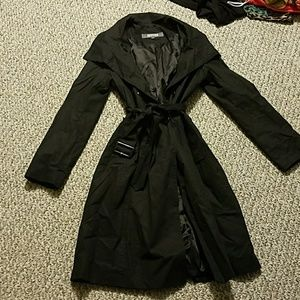 Kenneth Cole Original Black Trench Coat