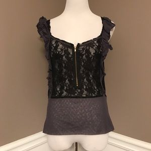 Free People size 12 ruffle and lace Sleeveless top