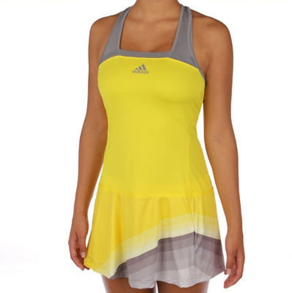 52de09973f1 adidas Dresses & Skirts - Adidas Adizero yellow & gray tennis dress - Small