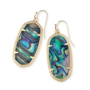 Kendra Scott Elle earrings in abalone shell