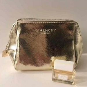 Givenchy gold cosmetic bag