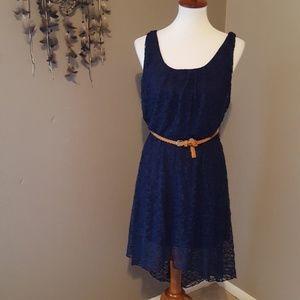 High-low lace dress