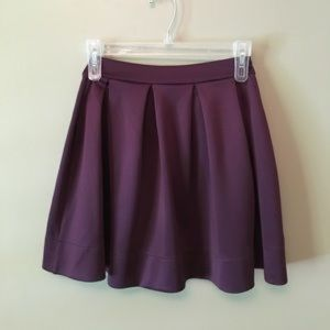 HONEY PUNCH purple flare skater skirt