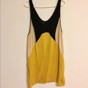 Zara color block silk dress