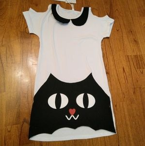 NWT Kawaii Cute Cat Peter Pan Collar Dress