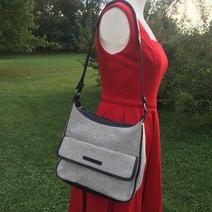 Stone mountain vegan leather handbag grey black