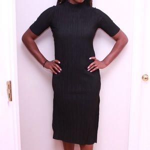 Zara ribbed black dress