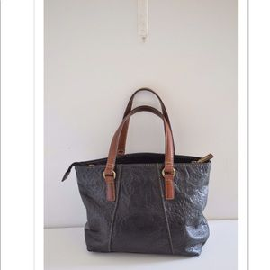 Fossil small leather tote bag