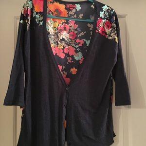 Floral 3/4 sleeve cardigan