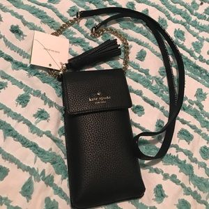 Kate Spade iPhone case cross body with chain