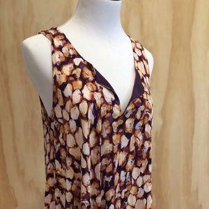 Vera Wang Patterned Sleeveless Tunic