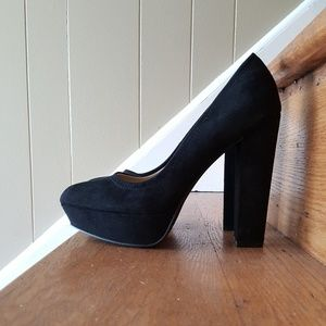 Just Fab Suedette Fall Platform Pump