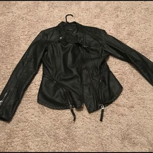 "Black Leather ""Biker"" Style jacket"