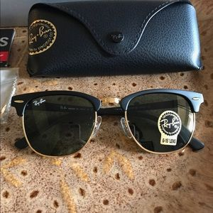 Black and gold club master sunglasses size 51
