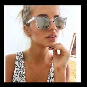 Quay Sunglasses - Kosha Round - clear frames