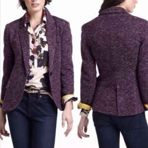 Cartonnier Anthropologie S Blazer Purple Dashes