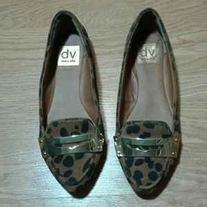 Dolce Vita leopard print loafers