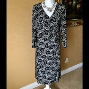 NWT Torrid Black & Faux White Wrap Dress, size 3