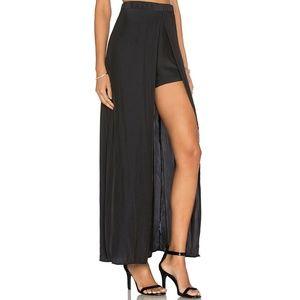 New! Ella Moss Black Maxi Skirt With Shorts