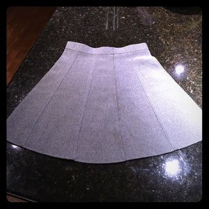 Heather grey high waisted A-line skirt