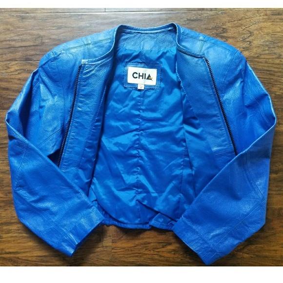 Vintage Jackets & Blazers - Vintage CHIA Leather Jacket