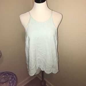 Markdown! Pretty light blue, linen tank top!