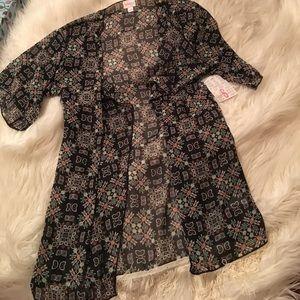 NWT lularoe kimono with tassels