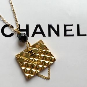Authentic Chanel Quilted Purse/Handbag Necklace
