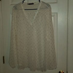 Maurices sheer blouse size 2