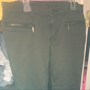 Michael Kors Army green Moto skinny pants