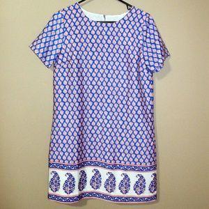 NWT Jcrew Printed Short Sleeve Gallery Dress