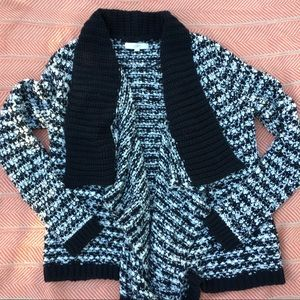 LOFT Knitted Draped Open Front Sweater Cardigan