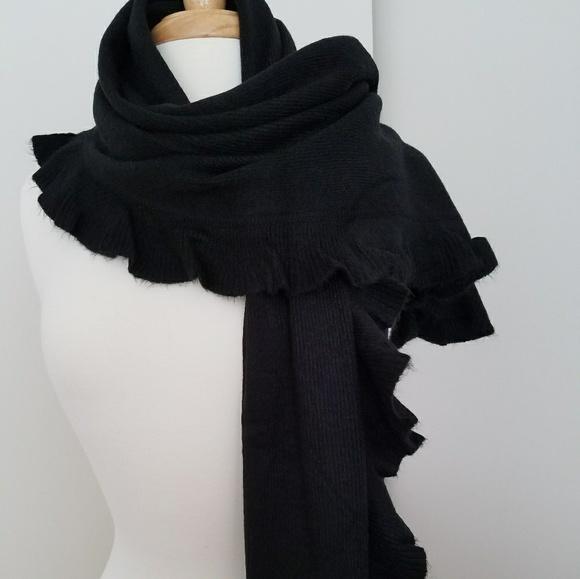 Accessories Ruffled Edged Knit Wrap Shawl Poshmark