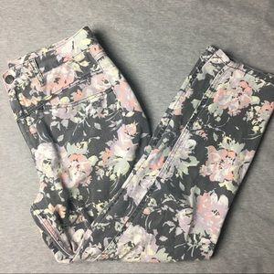 Urban Outfitters Floral Print Mom Jeans