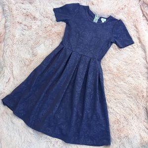 Lularoe Amelia Purple Floral Dress S