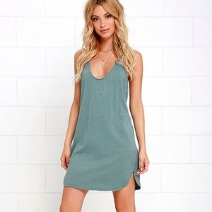 Washed Green Dress - T Back - NEW WITH TAGS XS