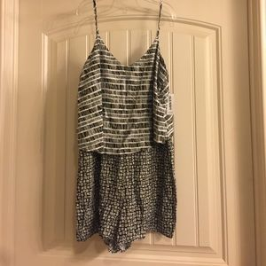 NWT Old Navy Black and White Romper