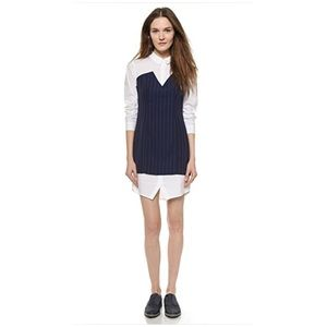English factory collared long sleeves dress