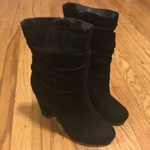 Black heeled boots/booties