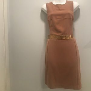 ASOS Nude Dress w/opening on right rib- size 8