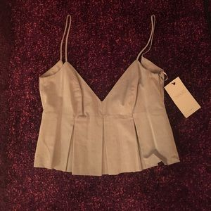 Zara Grey Crop Top