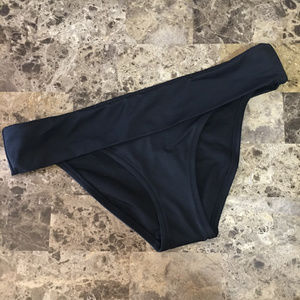 Victoria's Secret Black Foldover Bikini Bottom!