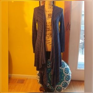 Forever 21 blue long wrap cardigan