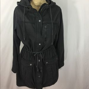 NWT Abercrombie & Fitch charcoal  utility jacket
