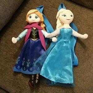 Elsa & Anna backpack with zipper