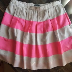 J. Crew Striped Skirt Pink size 4